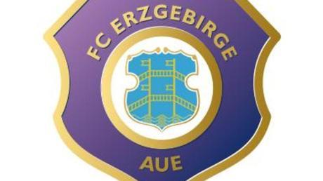 Das Logo des Fußball-Zweitligisten FC Erzgebirge Aue. Foto: