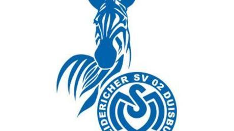 Das Logo des Fußball-Zweitligisten MSV Duisburg. Foto: