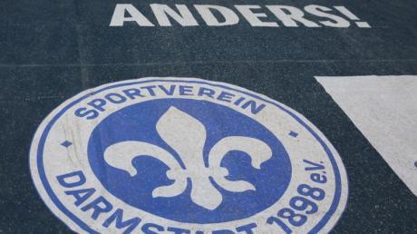 Das Vereinswappen vom Zweitligaclub Darmstadt 98.