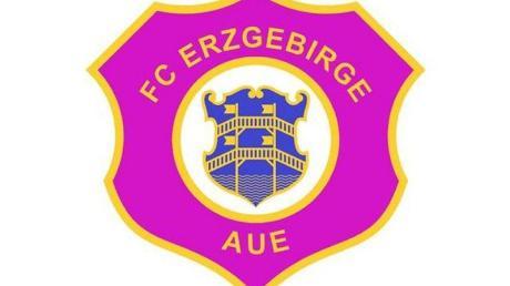 Das Logo des Fußball-Zweitligisten FC Erzgebirge Aue.