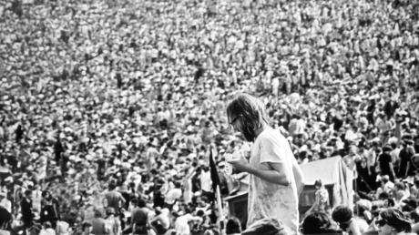 Das war das Original im August 1968: 400.000 Menschen beim Woodstock-Festival.