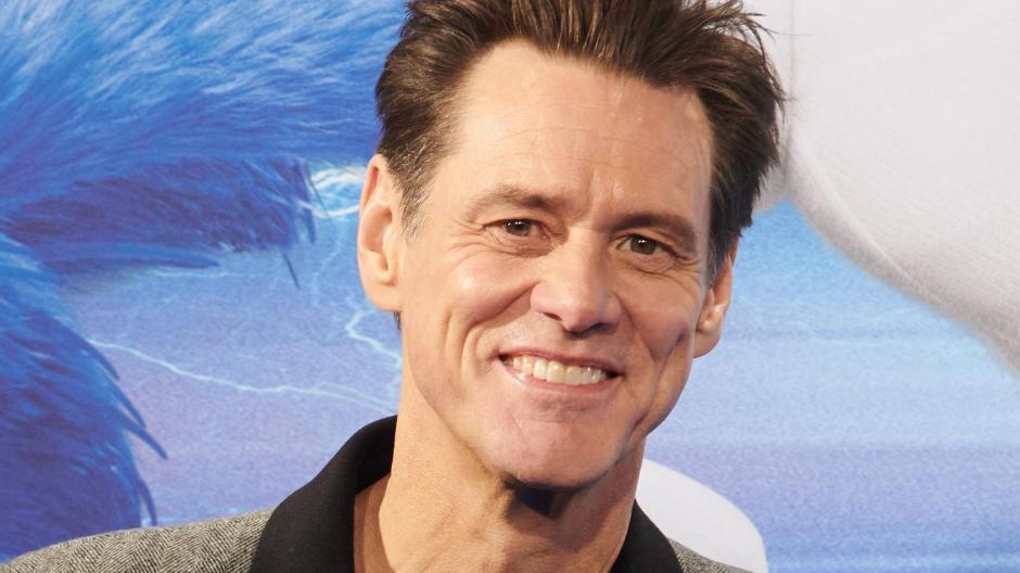 """Jim Carrey bei der Vorstellungseines neuenFilms """"Sonic The Hedgehog""""."""