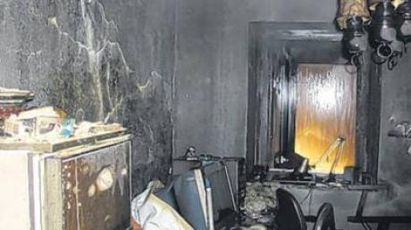 So sah der Raum im Adelzhausener Bauernhaus aus, von dem vermutlich der Brand ausging.