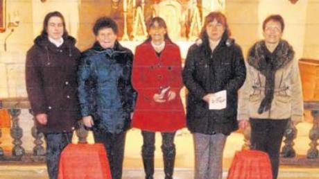 Andrea Gail, Marianne Asam, Christiane Haack, Henny Bayr und Rosi Mahl (v. li.) gestalteten den Weltgebetstag der Frauen.
