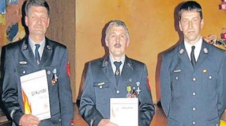 Helmut Hartmann (li.), Peter Haberl (Mitte) und Hubert Wolf.