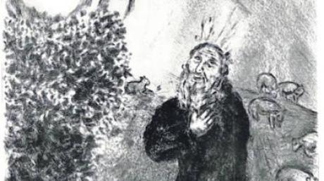 """Bilderl wie der """"Brennende Dornbusch"""" sind bei der Ausstellung in Schrobenhausen zu sehen."""