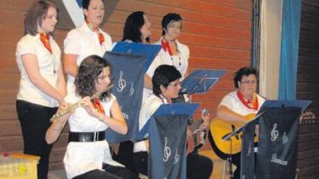 Die Gesangsgruppe Domino war beim Auftritt des Liederkanzes Baar wieder mit von der Partie.
