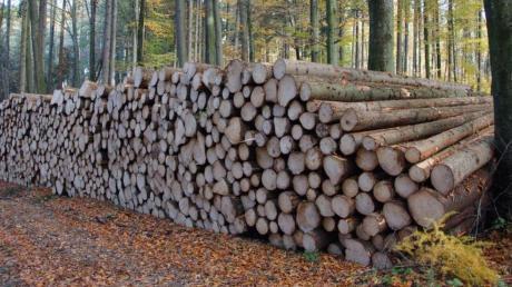 Auch um die Holzpreise  ging es in der Marktgemeinderatssitzung in Rennertshofen.