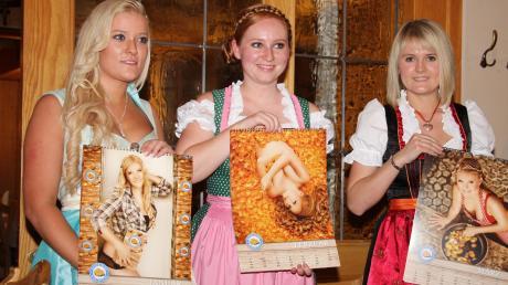 Januar, Februar und März werden im Kalender 2015 repräsentiert von (von links): Carina Schuhmann, Victoria Kucharz und Katharina Schmid.