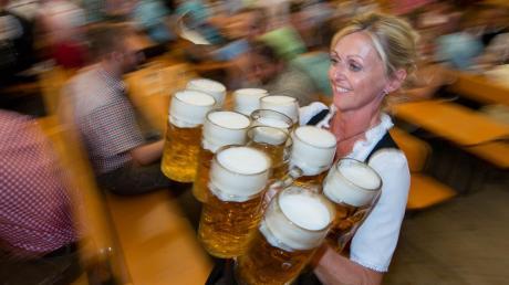 Der Preis für die Maß Bier unterscheidet sich von Volksfest zu Volksfest enorm.