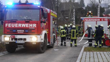 Aktive von sechs Feuerwehren beteiligten sich an einem Übungstag im Petersdorfer Ortsteil Alsmoos.