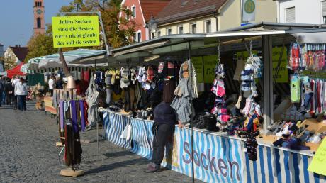 Marktsonntag in Friedberg.