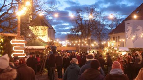 Der Weihnachtsmarkt Affing 2019 eröffnet am 7. Dezember.