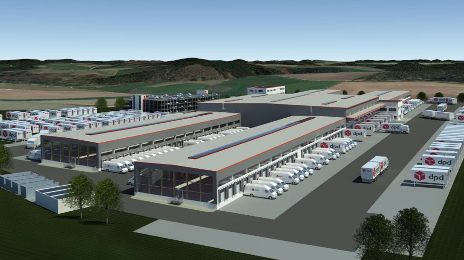 Neubau Dpd Depot Bei Aichach Gallenbach Wächst In Die Höhe