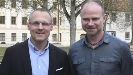 Kommen beide aus Affing: der neue Thierhauptener Verwaltungschef Thomas Hübler (links) und der neue Kämmerer Kaspar Wallner.