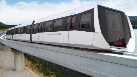 Die Magnetschwebebahn der Baufirma Max Bögl kann bei Maximalauslastung bis zu 30.000 Menschen pro Stunde befördern. Das Fahrgastpotenzial an der A8 ist nun Thema einer Studie.