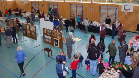 Fast 20 Aussteller versammelten sich bei der Hobbybastlerausstellung in der Schiltberger Mehrzweckhalle.
