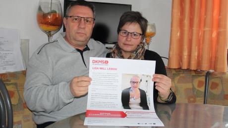 Lisas Eltern, Harald und Johanna Hross, hoffen auf einen Stammzellspender für ihre Tochter.