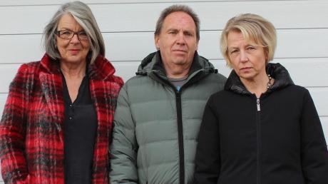 """Der neue Vorstand des Vereins """"Stoppt Fluglärm"""": (von links) Karin Karsten, Gerhard Platzer und Karin Mitterbaur."""