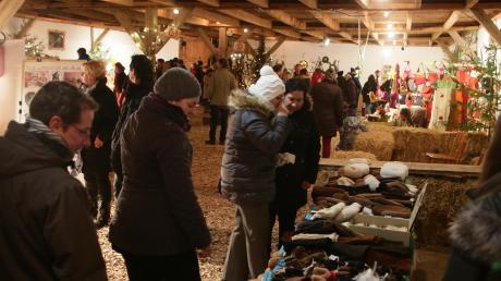 Der Handwerkerstadel ist auf dem Affinger Weihnachtsmarkt einer der Anlaufpunkte.