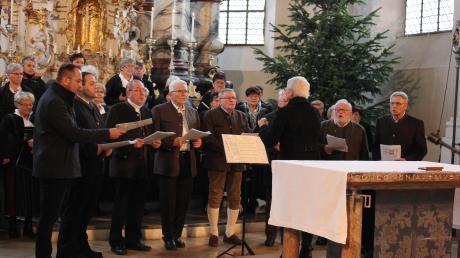 Das Männerdoppelquartett Unterer Lech unter der Leitung von Marianne Lang war ein besonderer Ohrenschmaus für die Zuhörer.