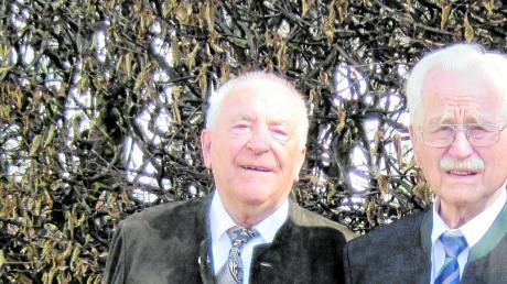 Walter Kunesch (links) ist im Alter von 94 Jahren gestorben.