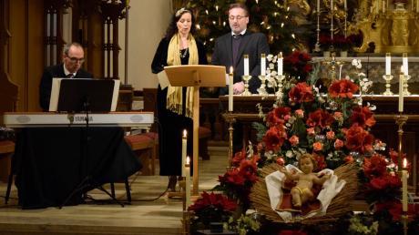 Beim Silvesterkonzert von Beata Marti (Mitte), Bernhard Hirtreiter (rechts) und Alois Kammerl (links) mussten sich Hörgewohnheiten ändern.