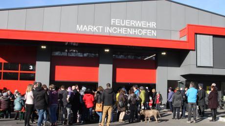 Jede Menge Besucher kamen am Sonntag zum Tag der offenen Tür ins neue Inchenhofener Feuerwehrhaus.