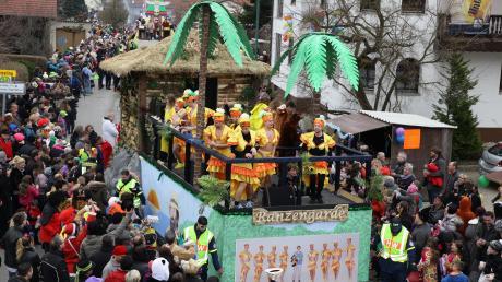 In Griesbeckerzell wird der Fasching ausgiebig gefeiert. Auch in diesem Jahr hoffen die Veranstalter auf rund 15.000 Besucher.
