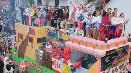 Einfach zum Anbeißen: der Wagen Candyland vom Stopselclub Eisingersdorf.