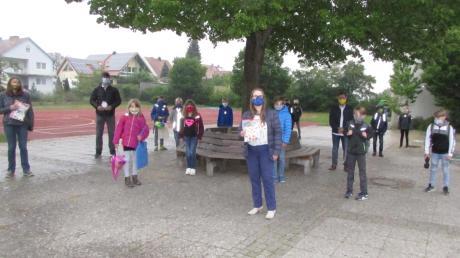 Vier Frauen haben die Grundschule Inchenhofen mit Masken versorgt.