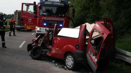 Bei diesem Unfall wurde 2019 ein Mann schwer verletzt.  Der Verursacher war zwei Tage zuvor schon einmal in einen Unfall verwickelt.