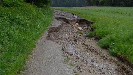 Vor sieben Jahren hatte das Hochwasser in Schiltberg sogar einen Feldweg mit sich gerissen.