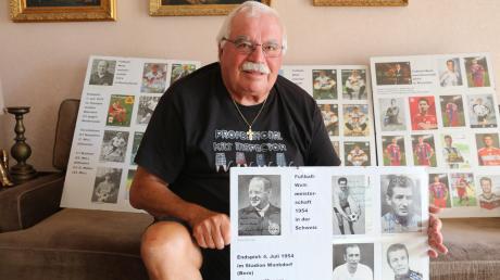 Bernhard Mangold sammelt seit mehr als 50 Jahren Autogramme von berühmten Sportlern.