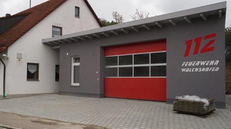Der Anbau am Feuerwehrhaus in Walchshofen ist bald fertig.