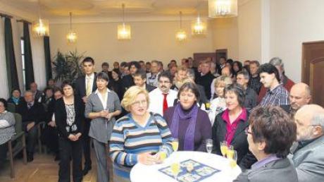 120 Bürger waren am Sonntag zum Neujahrsempfang ins Inchenhofener Rathaus eingeladen. Foto: ech