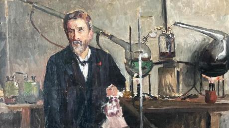 """Dieses Gemälde der Holzhauser Malerin Clara Ewald hat Dr. Alfred Gunzenhauser dem Verein """"Unser Dorf"""" in Holzhausen geschenkt."""