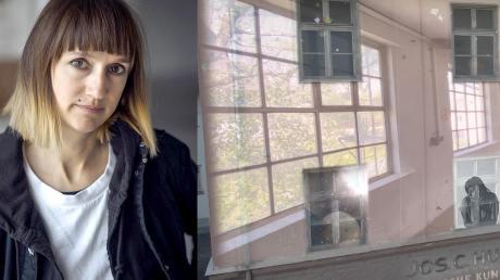 Vanessa Hafenbrädl projizierte vor Kurzem Einblicke in die Dießener Huber-Häuser auf deren Fassade.