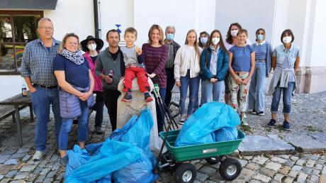 Einiges an Unrat haben die Helferinnen und Helfer bei der Clemens-Schmid-Gedächtnis-Aufräumaktion zusammengetragen.