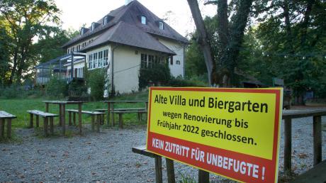 """Gähnende leere herrschte den Sommer über im Biergarten der """"Alten Villa"""". Im Frühjahr soll es hier einen Neustart geben."""