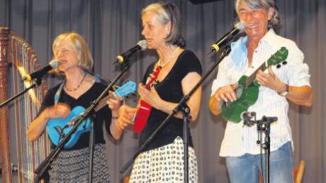 Hoch musikalisch und rotzfrech präsentieren sich die Wellküren – Burgi, Bärbi und Moni Well (von links) – bei ihrem Auftritt in Mittelneufnach.