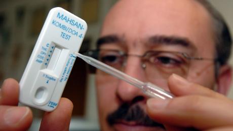 Ein Drogentest brachte bei einem 35-Jährigen ein positives Ergebnis.