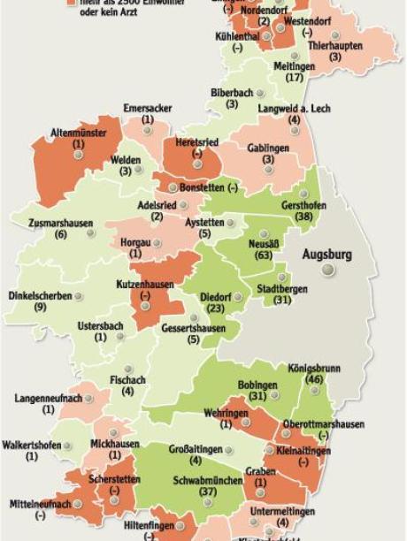 Landkreis Augsburg Karte.Medizinische Versorgung Neusass Halt Den Arzte Rekord Im
