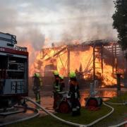 Großbrand Schreinerei in Welden