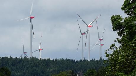Im Scheppacher Forst gibt es Windräder.