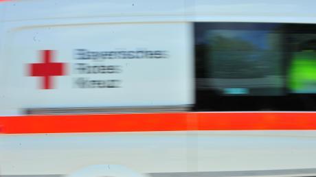 Symbolfoto, BRK Fahrzeug, Tag der offenen Tür beim Polizeipräsidium Augsburg--- Großer Andrang auf dem Präsidiumsgelände, Polizei