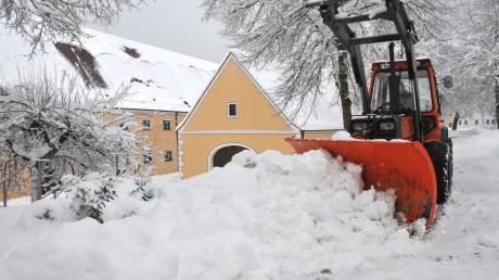 Das Augsburger Land versinkt im Schnee.