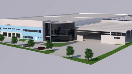 So soll das Riegele-Logistikzentrum in Gersthofen einmal aussehen. Die Fertigstellung ist für 2020 geplant.