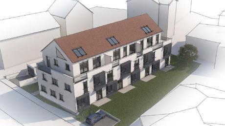 So soll das neue Gebäude an der Ulmer Straße in Zusmarshausen aussehen. Es soll hinter dem Rathaus entstehen.