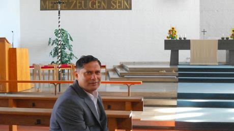 Norman D'Souza ist seit 2016 in Nordendorf tätig. Jetzt feiert er silbernes Priesterjubiläum.